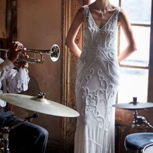 BHLDN Sorrento Dress beaded wedding dress sz 6